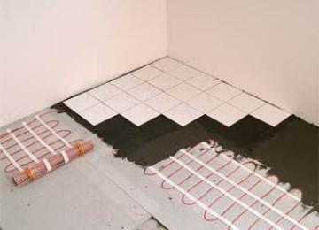 Когда можно включать теплый пол после укладки плитки