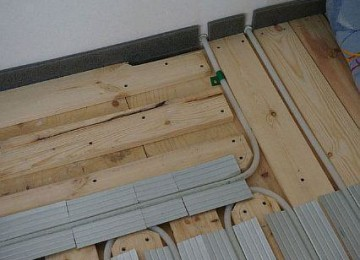 Монтаж водяного и электрического тёплого пола по деревянным перекрытиям в частном доме