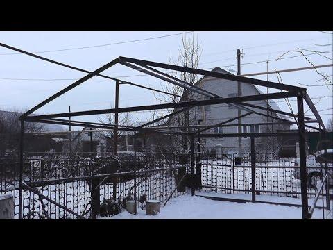 Постройка металлического гаража (каркас)