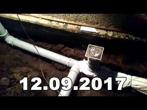 12.09.2017 - МОНТАЖ КАНАЛИЗАЦИИ В БАНЕ
