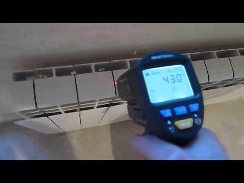 Разница температур на радиаторе отопления