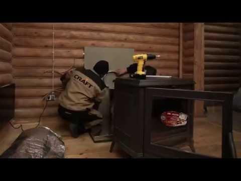Монтаж дымохода сэндвича из нержавеющей стали для печи камина