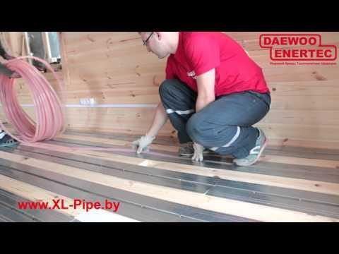 Монтаж XL PIPE на деревянный пол без стяжки