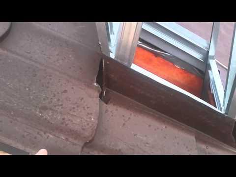 Как сделать выход для трубы на крыше из металлопрофиля / металлочерепицы