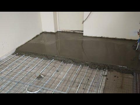 Водяной тёплый пол со стяжкой и люком в полу