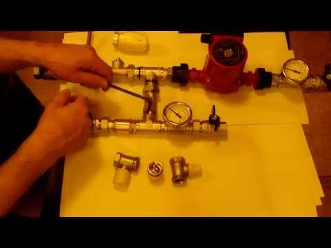 Смесительный узел для тёплых полов на двухходовом клапане, часть 1