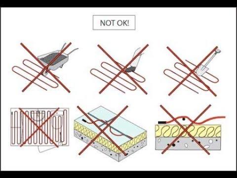 Типичные ошибки при монтаже теплого пола под плитку