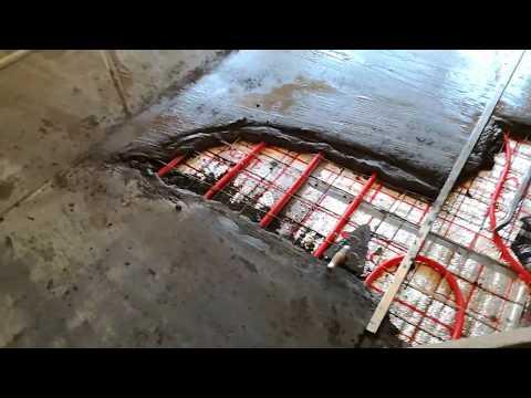 Толщина стяжки под тёплый пол