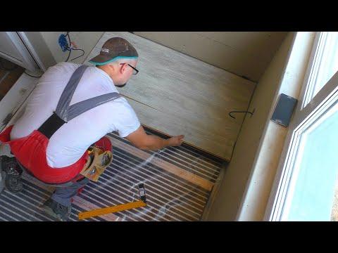 Утепление лоджии Теплый пол и электрика (ЧАСТЬ 2) СТРОИМ ДЛЯ СЕБЯ