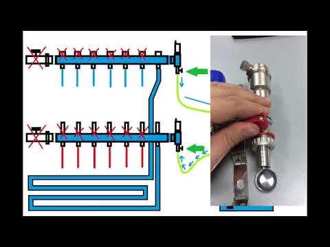 Как заполнить теплоносителем водяной теплый пол