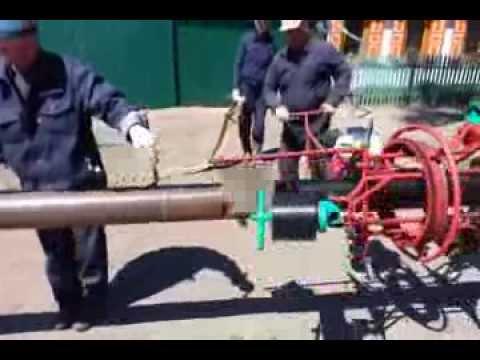Изоляция стальной трубы с помощью МИГ 219