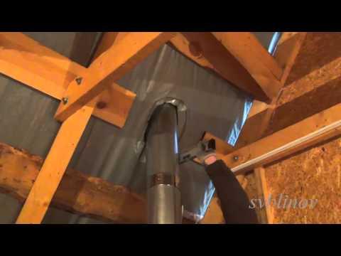 Как устранить течь на крыше возле трубы.