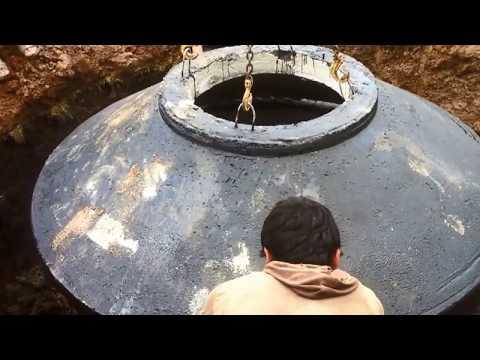 монтаж бетонного септика при высоком уровне грунтовых вод