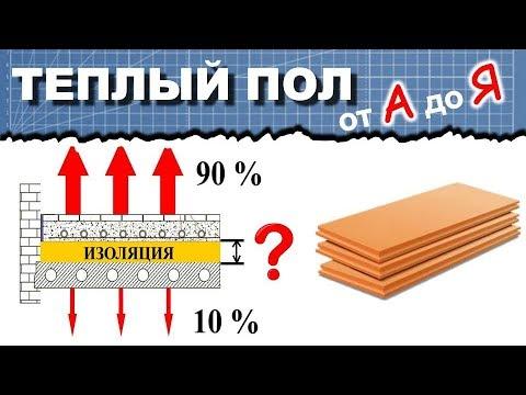 4. Толщина утеплителя теплого пола. Виды теплоизоляции. Теплый пол от А до Я.