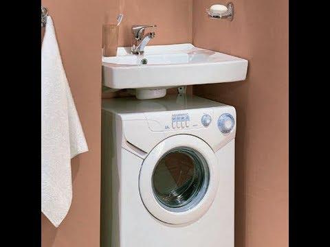 Раковина над стиральной машиной. Подробная инструкция как крепить.