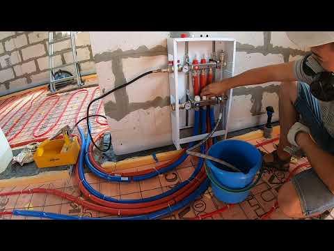 🟢Как я осуществил опрессовку водяного пола .Теплый водяной пол своими руками.Часть 5