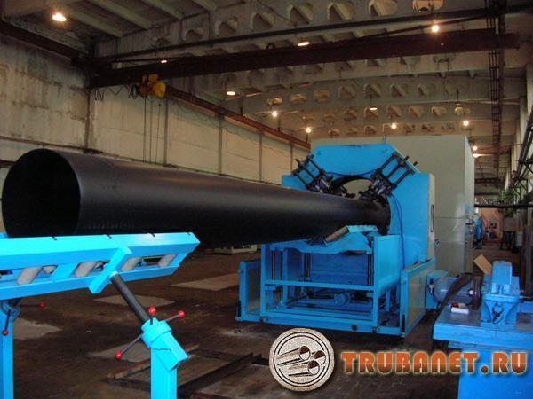 Росиийское производство пластиковых труб используют станок экструдер фото