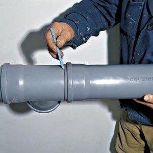 Монтаж пластиковой канализации из труб
