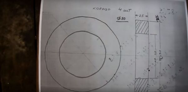схема кольца