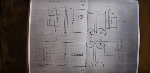 схема роликовых деталей