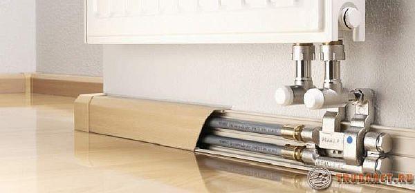 Фото: Как спрятать трубы отопления в частном доме