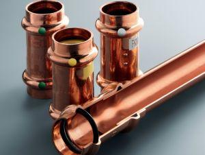 Фото: Медные трубы для отопления и фитинги