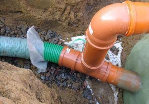 Фото: теплоизоляция с помощью земли канализации