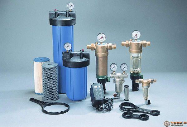 Фото – фильтры тонкой механической очистки для воды