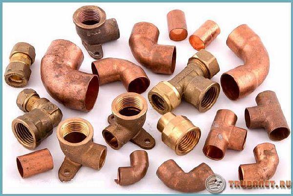 Фото: фитинги для медных труб под пайку