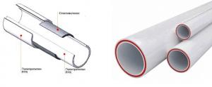 Фото: трубы ппр армированные стекловолокном для отопления