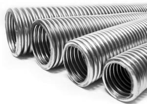 Фото: Гофрированная труба из нержавеющей стали