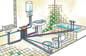 Фото: Схема разводки трубопровода в ванной и туалете своими руками