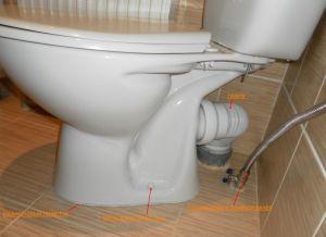Фото: Соединение унитаза с канализационной трубой