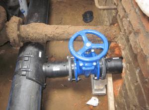 Фото: Водопроводные трубы ПНД для холодного водоснабжени