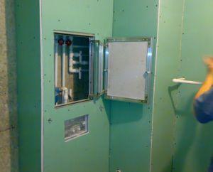 Фото: короб для труб в ванной