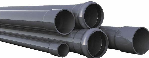 Фото - пластиковые раструбные трубопрокаты для монтажа канализации