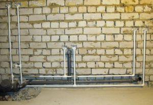 Фото: схема разводки подключения в ванной и туалете