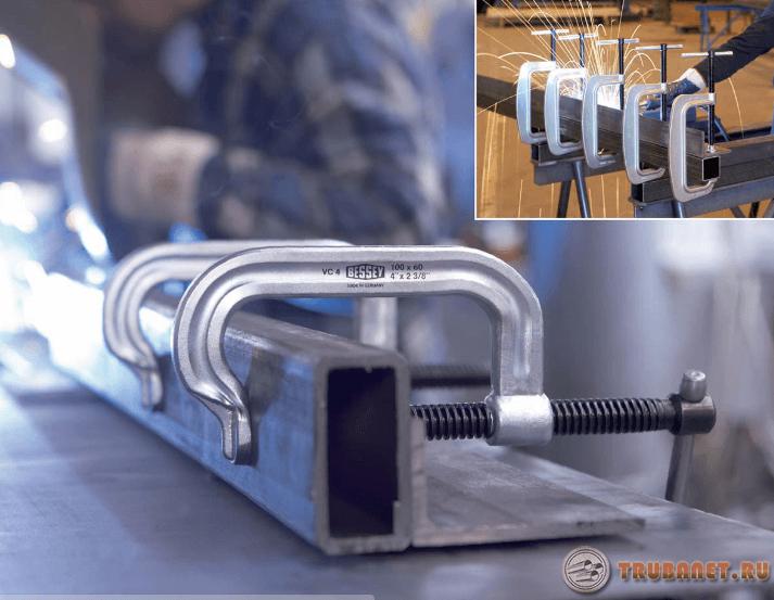 Фото: Крепежные приспособы для сварочного процесса