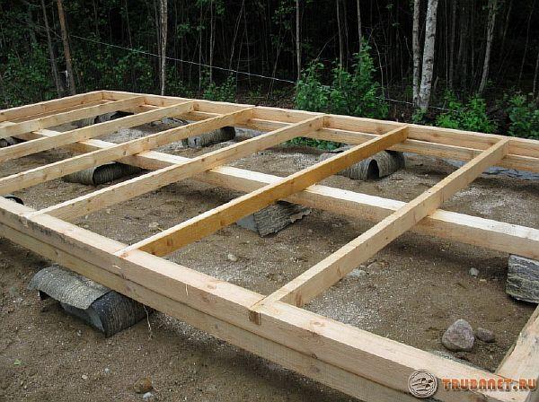 Фото: Построить пол из досок
