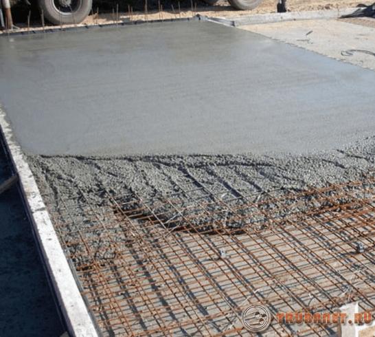 Фото: бетонная стяжка для навеса своими руками