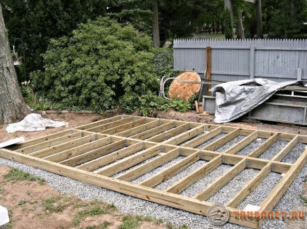 Фото: строим пол гаража