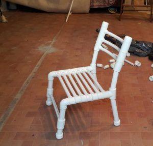 Фото: стул из полипропиленовых трубопрокатных материалов своими руками