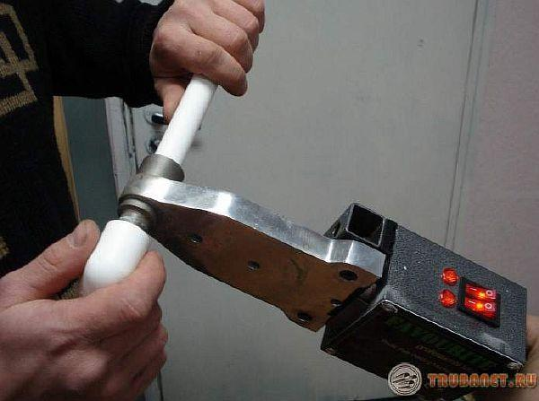 фото: как паять полипропиленовые трубы для отопления