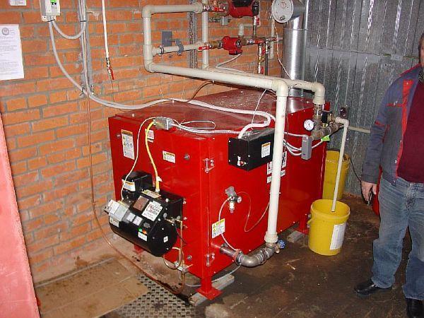Фото – отопительный агрегат на дизтопливе