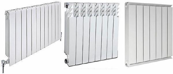 Фото – радиаторы из алюминия различных модификаций