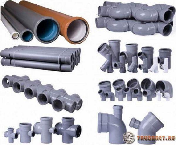 фото: виды полипропиленовой трубной продукции для канализ. системы