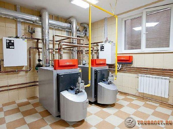 фото: монтаж отопления частного дома
