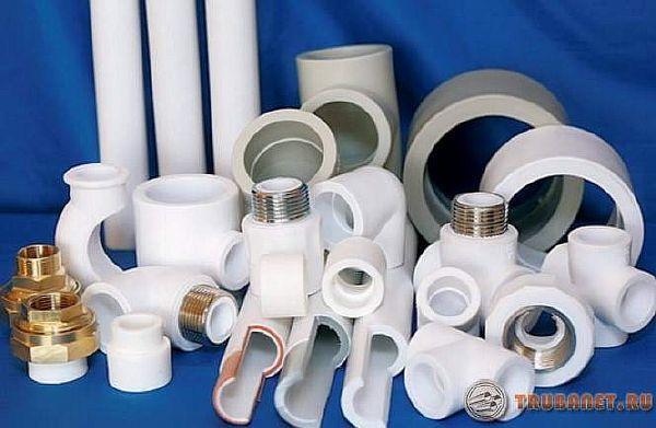 фото: пластиковые изделия для водопровода и оипления