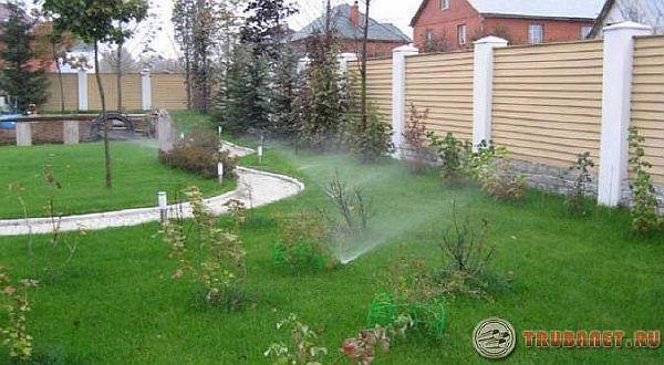 фото: водопровод для полива на даче