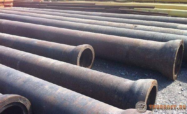 фото: Чугуный канализационный трубопрокат